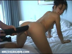 Petite kream has her tight ass prolapsed by giant dildo movies at kilopills.com