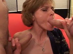 Two facials for a skinny milf cocksucker videos