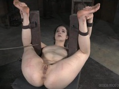 Naked bound girl suffers real pain from caning movies at kilopills.com