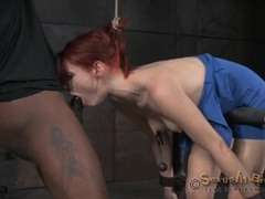 Violet monroe throat fucked in sexy bondage videos