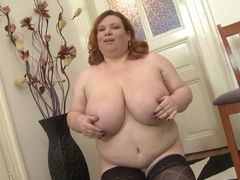 Bbw redhead swinging her big natural tits videos