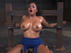 Bound slut with big oiled titties opens for his cock movies at kilotop.com