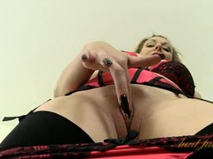 Vintage style lingerie is amazing on a hot milf videos