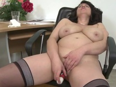 Big naked mature titties in a masturbation clip videos