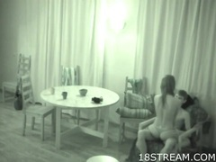 Hidden camera captures teen foreplay with a couple movies at sgirls.net