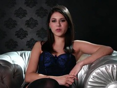 Shyla jennings interview in smoking hot lingerie clip