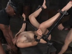 Pretty blonde savagely fucked in the bdsm dungeon videos