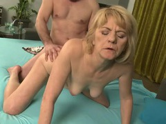 Mature blonde fucked by her husband movies at lingerie-mania.com
