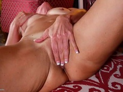 Horny tanned mature babe masturbates her snatch movies at sgirls.net