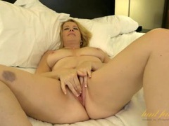 Cute and curvaceous older babe alone in a hotel room videos