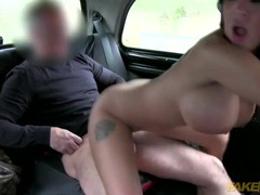 Big cock cab driver fucks a brunette bimbo slut videos