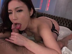 Gorgeous japanese babe in fishnets rides a dick movies at find-best-lingerie.com