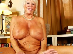 Granny with an amazing pair of huge tits videos