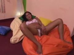 Cute cotton panties on a stroking tranny movies at kilotop.com
