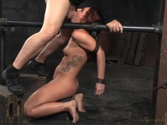 Red haired girl in the dungeon gets mouth fucked movies at find-best-hardcore.com