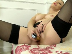 Sultry mature babe in vintage lingerie fucks a toy movies at kilopills.com