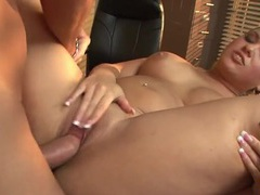 Naked slut on a desk pounded by a fat dick movies at sgirls.net