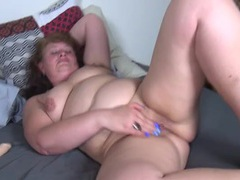 Lubed mature snatch pleasured by a dildo movies at lingerie-mania.com
