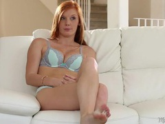 Cute redhead alex tanner interviews in her underwear movies at kilotop.com
