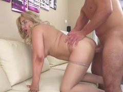 Fat ass hottie bent over the couch and fucked movies at adipics.com