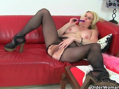 British milf tori loves her easy access pantyhose videos