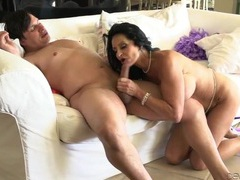 Soaking wet mature pussy sits on a big dick videos