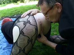 Punk slut and a couple of guys fuck outdoors movies at kilovideos.com
