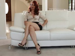 Milf pornstar kendra james interviews in a satin blouse videos