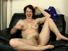 Milf is hairy all over as she chats solo videos