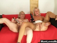 Big titted gramma penetrates a madame videos
