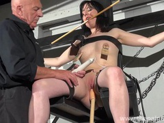 Enslaved honesty cabellero nipple clamped videos