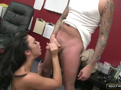 Banging a leggy babe in his office videos