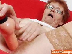 Mother solo in addition to a rubber cock videos