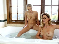 Bathtub lesbian sex with gorgeous staci carr videos