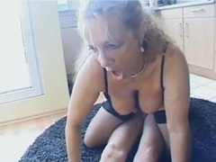 Housewife in lingerie fucked on her kitchen floor videos
