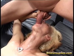 German milf in bukkake groupsex orgy videos
