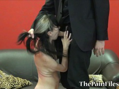 Kinky spanking and brutal blowjob videos