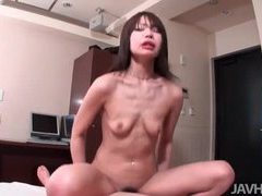 Skinny girl sits on the dick until it cums tubes at japanese.sgirls.net