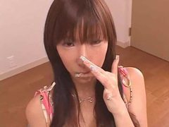 Japanese slut pissed on and sucking cock tubes at lingerie-mania.com
