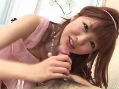 Japanese brunette blows him and he eats her out tubes at japanese.sgirls.net
