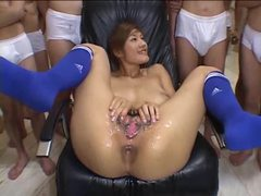 Pussy bukkake with a japanese girl is messy videos