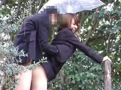 Japanese girl in skirt fucked outdoors movies at sgirls.net