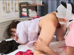 Patient hooks up with japanese nurse tubes at lingerie-mania.com