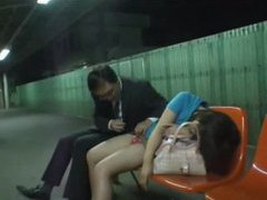 Japanese chick is totally drunk and groped tubes at japanese.sgirls.net