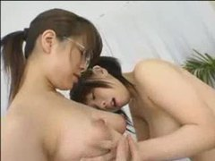 Japanese lesbians play with nipples videos