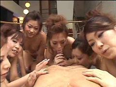 A group of japanese girls tries to get you off tubes at lingerie-mania.com