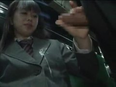 Schoolgirl gives handjob on a bus movies at sgirls.net