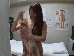 Skinny japanese girl fucked during massage tubes at lingerie-mania.com