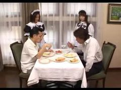 Men served by japanese french maids tubes at lingerie-mania.com