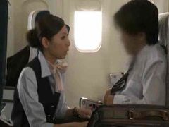 Japanese stewardess giving a handjob movies at sgirls.net